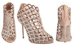 Crystal Cut Out Sandal by Sergio Rossi #Sandal #Sergio_Rossi