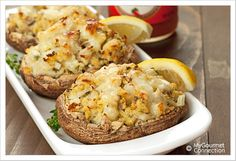 Crab Stuffed Portobello Mushrooms from MyGourmetConnection