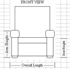 Furniture Measuring Measurement Guide, Carolina Chair