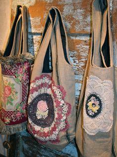 Unique Vintage Gypsy Metallic Crochet Boho Bag by arosyoutlook, $59.00