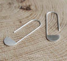 Sterling silver geometrics pendants earrings Les by AgJc on Etsy