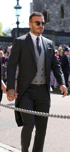 David Beckham Royal Wedding hottest man at wedding ! David Beckham Wedding, David Beckham Long Hair, David Beckham Suit, David Beckham Family, David Beckham Style, David Beckham 2018, David Beckham Fashion, Beckham Football, Wedding Outfits