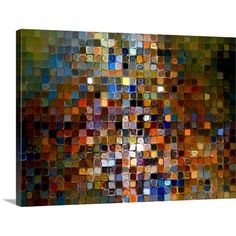 Printfinders Tile Art #1 2007, Modern Mosaic by Mark Lawrence Graphic Art on Canvas | AllModern