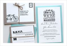 FREE downloadable invitation templates!  There's a ton of adorable designs.  I love this vintage bike one.
