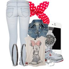 Teens Pale Pink Minnie Mouse Tank Top - Polyvore