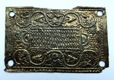 Anglo-Saxon buckle plate, Barbican House Museum, Lewes