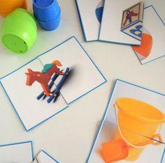 Fiz dois conjuntos de puzzles para o Tomás e para a Francisca. Uns têm brinquedos e outros têm frutos. Retirei as imagens da pági...