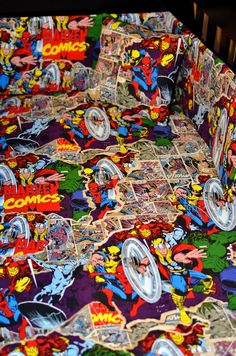 Comic Book Fitted Crib or Toddler Sheet