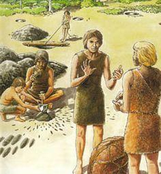 Filmpje over het leven in de Steentijd