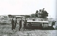 "stukablr: ""Refuelling a Tiger No253 of sPzAbt503 """