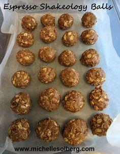Espresso Shakeology Balls: almond butter, almonds, cafe latte, shakeology, vegan, honey
