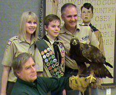 Live Golden Eagle at Eagle Court of Honor
