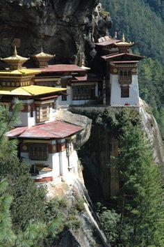 Taktshang Monastery, Bhutan - I must go here someday, and Bhutan in general. Gross national happiness! #HipmunkBL