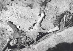 Bergen Belsen, Germany, A prisoner's dead body found after the liberation, April 1945.