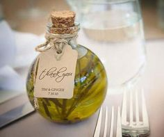 Rosemary (or other herb) oil as wedding favor