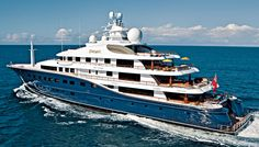 The six-deck motor yacht Cakewalk, from U.S. builder Derecktor Shipyards, is the largest yacht by volume built in the United States.