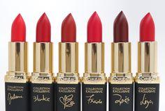 L'Oreal Colour Riche Collection Exclusive Red Matte Lipsticks