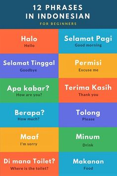 1636 best teaching indonesian images on pinterest in 2018 giza learn these 12 easy phrases in bahasa indonesian m4hsunfo
