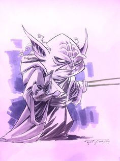 Sketch::Yoda by KharyRandolph The Force Star Wars, Star Wars Jedi, Star Wars Rebels, Star Wars Art, Comic Book Drawing, Poster Drawing, Comic Poster, Comic Art, Star Wars Timeline