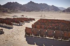Abandoned Outdoor Cinema. Sinai Peninsula, Egypt