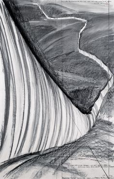 Christo et Jeanne-Claude Running Fence (Project for Sonoma and Marin Counties, California)