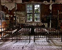 Wallpaper of the abandoned Greystone Park Psychiatric Center