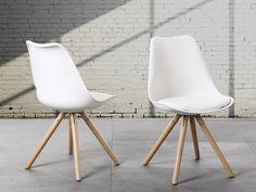 Dining Chair - Settee - Padded Seat - White - DAKOTA