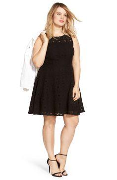 887e3853fe5 BB Dakota  Renley  Lace Fit  amp  Flare Dress (Plus Size) Fit