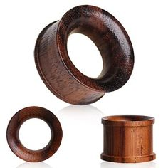 Organic Sono Wood Flesh Tunnel Plug with Double Flares by Every Body  Size 0g/8mm