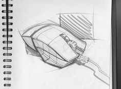 mouse sketch - Tomislav Kacunic Cool Sketches, Drawing Sketches, Drawing Ideas, Sketching, Id Design, Sketch Design, Mouse Sketch, Line Sketch, Industrial Design Sketch