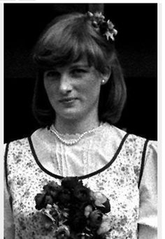 Diana at sister Jane's wedding. She always loved pearls.