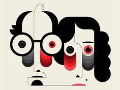 """The tired """"intellectuals"""" designed by TRÜF. Connect with them on Dribbble; the global community for designers and creative professionals. Whiz Khalifa, Geometric Shapes Art, Stencil Painting, Painting Lessons, Pattern Art, Pattern Design, Op Art, Illustration Art, Illustrations"""