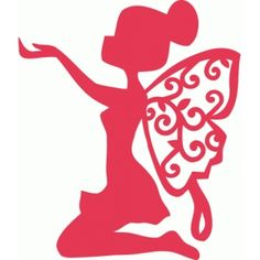 Silhouette Design Store - View Design little pixie kneeling Fairy Silhouette, Silhouette Portrait, Silhouette Design, Fairy Crafts, Diy And Crafts, Paper Crafts, Kirigami, Cut Image, Silhouette Cameo Projects