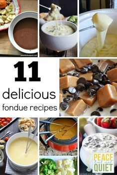 These fondue recipes are great for family dinners or parties!