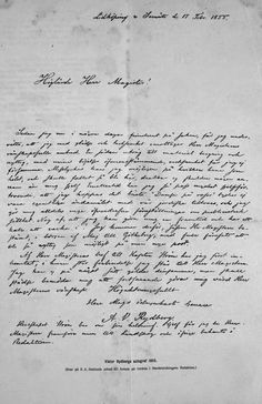 Början på historien, kan man säga. Viktors svarsbrev 1855 till S. A. Hedlunds anbud att börja på Göteborgs Handelstidnings redaktion. Helt avgörande för Rydbergs fortsatta karriär och liv.