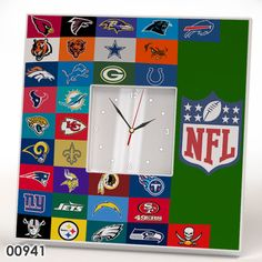 NFL Football Wall CLOCK Mirror Frame AFC NFC AFL Teams Collection Fan Sport Gift #IKEA