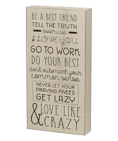 'Be a Best Friend' Box Sign #zulily #zulilyfinds