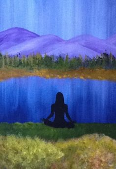 "Yoga Art - ""Namaste""  - Painting by Lorraine Skala - Follow me on FB at Sunflower Studio - Frameable prints & notecards available"