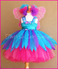 Abby Cadabby Tutu Dress, Abby Cadabby Costume, Pink and Blue fairy costume
