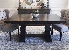 The James+James Expandable Table features a solid Alder tabletop with a 2' L leaf that locks into the center of the table for additional seating capability.  Pick from four currently available styles: Farmhouse, Baluster Turned Leg, Olivia Turned Leg, or Heirloom Pedestal.  Every table is custom crafted to order, ensuring that each table features unique wood grain, knots, and distress marks.   Click to customize and choose your stain color, dimensions and table style for your home!