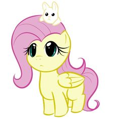 Fluttershy as a filly with baby Angel on her head! This is amazingly cute! Baby Angel Tattoo, Baby Tattoos, Cute Tattoos, Skull Tattoos, Foot Tattoos, Sleeve Tattoos, Mlp My Little Pony, My Little Pony Friendship, Flower Tattoo Foot