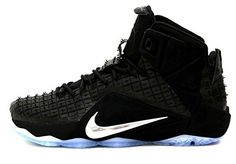 9fba75dacb66 Nike LeBron XII EXT RC QC Mens Basketball Shoes 744286-001 Black Chrome- Black