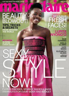 May 2014 cover with Lupita Nyong'o