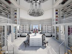 Dressing Room Design für Inspiration Sie - Wedding Home Decoration Dream Home Design, My Dream Home, Home Interior Design, House Design, Modern Mansion Interior, Room Interior, Dream Closets, Dream Rooms, Big Closets