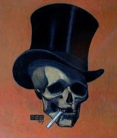 Skull in Tophat