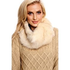 Ivory slip on faux fur scarf turtle neck ($17) ❤ liked on Polyvore featuring accessories, scarves, ivory, ivory faux fur shawl, ivory shawl, faux fur scarves, faux fur shawl and fake fur shawl