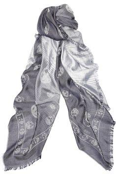ALEXANDER MCQUEEN  Dégradé skull-print silk-blend scarf