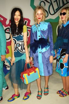 Cool colors at Burberry Prorsum S/S15