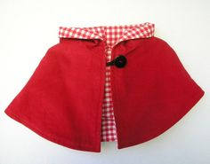 Little Red Riding Hood Cape Reversible by peapodray on Etsy, $42.00