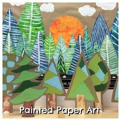 New blog post with full details on creating these adorable trees and delightful magical tree mural. Want to be the first to know when new projects are posted? Sign up for the Painted Paper Art Newsletter!  @www.paintedpaperart.com  link in profile.  #artteachers #teachers #teachersfollowteachers #teachersofinstagram #elementaryart #primaryart #kidscrafts #reggioinspired #kidspainting